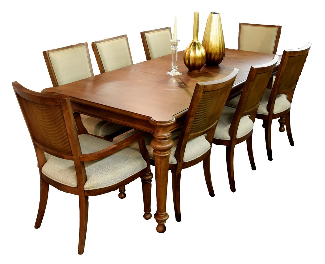 Cascade Rectangle 9pc Dining Set Signature Selection